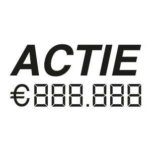 Auto verkoop sticker | Actie met prijs | Zwart