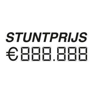 Auto verkoop sticker | Stuntprijs | Zwart