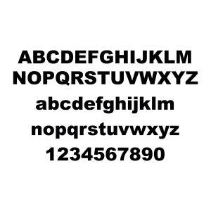 Plakletter | Alfabet - Arial Black | Zwart