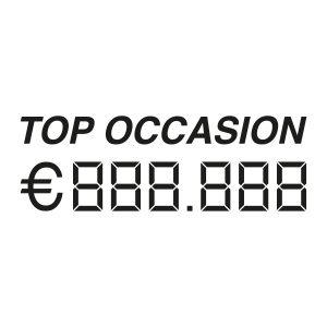 Auto verkoop sticker | Top occasion met prijs | Zwart