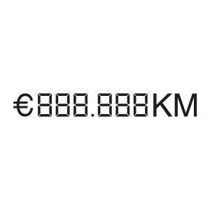 Auto verkoopsticker | prijs en kilometer stand | Zwart
