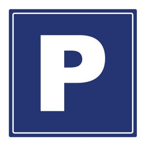 Bedrijfssticker | Parkeerbord | Blauw