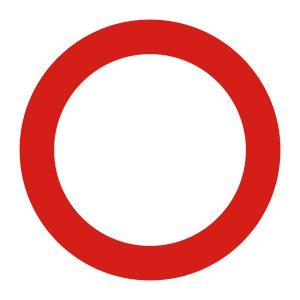 Bedrijfssticker | Verboden toegang | Rood