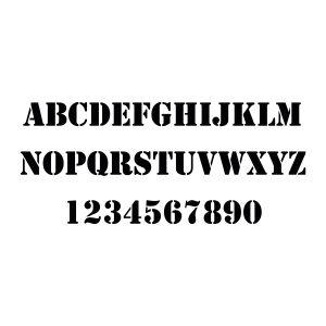 Plakletter | Alfabet - Stencil | Zwart