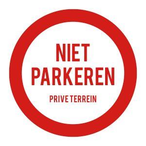 Bedrijfssticker | Niet parkeren bord | Rood