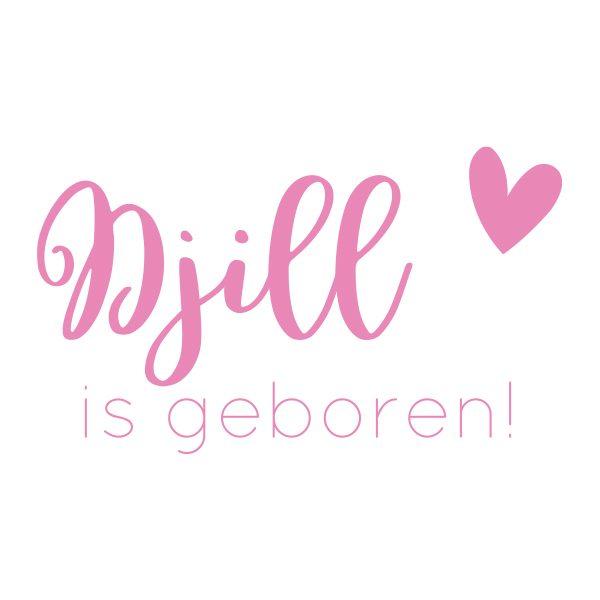 Baby-/geboortesticker | Zij is geboren! | Licht Roze