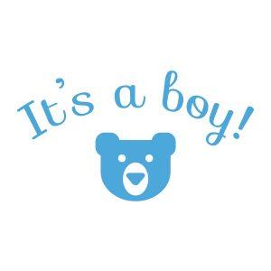 Baby-/geboortesticker | It's a boy! | Licht Blauw