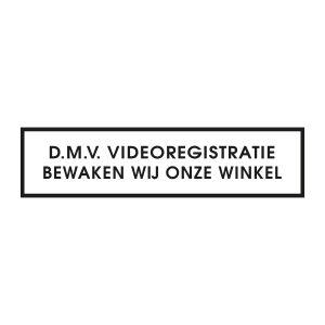 Bedrijfssticker | Videoregistratie | Zwart