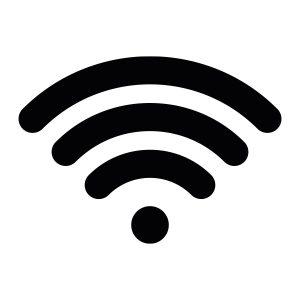 Bedrijfssticker | Wifi Signaal | Zwart