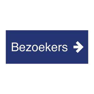Bedrijfssticker | Bezoekers | Blauw