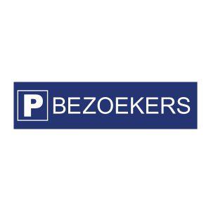 Bedrijfssticker | Bezoekers parkeren | Blauw