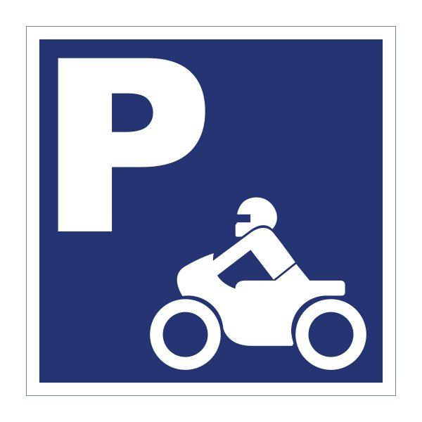 Bedrijfssticker | Parkeren motor | Blauw