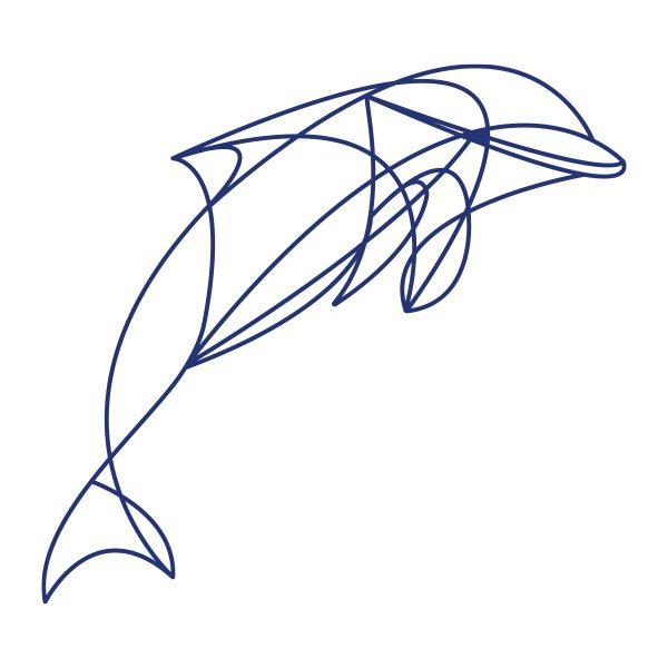 Decoratiesticker   Dolfijn   Blauw