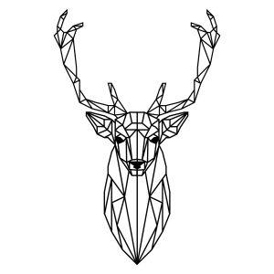 Decoratiesticker | Hert | Zwart