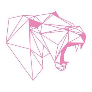 Decoratiesticker | Luipaard | Licht Roze