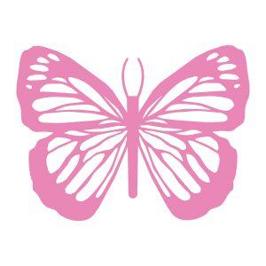 Decoratiesticker | Vlinders set | Licht Roze