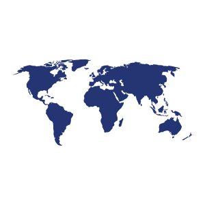 Decoratiesticker | Wereld | Blauw
