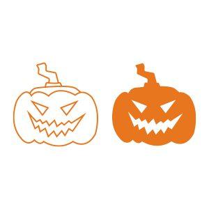 Halloweenstickers | 2 Pompoenen | Oranje