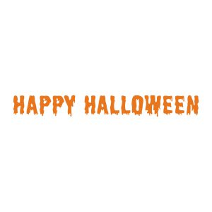Halloweenstickers | Happy Halloween | Oranje