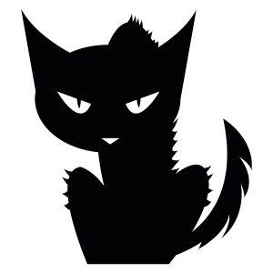 Halloweenstickers | Kat | Zwart