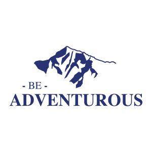 Quotestickers | Be Adventurous Serif | Blauw