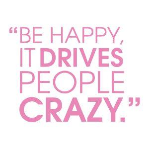 Quotestickers | Be Happy Sans | Licht Roze