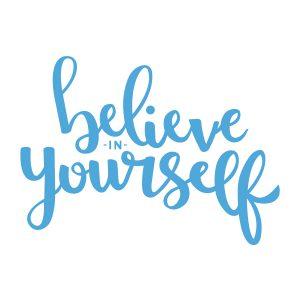 Quotestickers | Believe | Licht Blauw