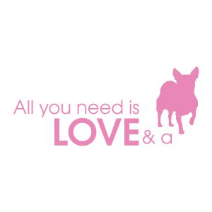 Quotestickers | Love Hond Chihuahua | Licht Roze