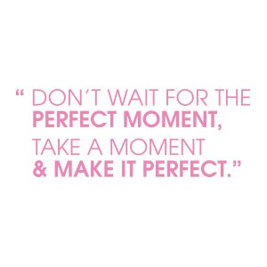 Quotestickers | Perfect Moment Sans | Licht Roze