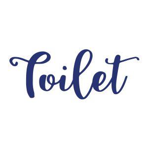 Wcstickers   Toilet   Blauw