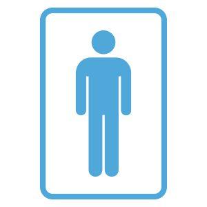 Wcstickers   Wc Man   Licht Blauw