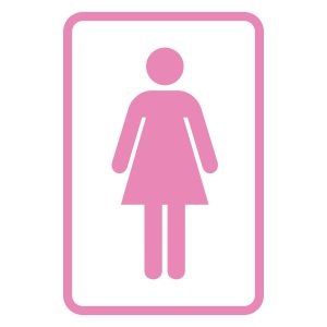 Wcstickers | Wc Vrouw | Licht Roze