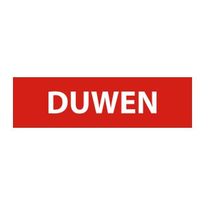 Bedrijfssticker | Duwen | Rood