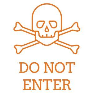 Kinderkamerstickers | Do Not Enter | Oranje
