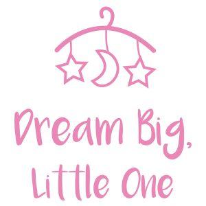 Kinderkamerstickers | Dream Big | Licht Roze