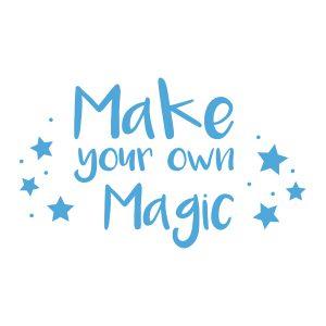 Kinderkamerstickers | Magic | Licht Blauw