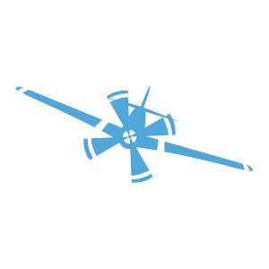 Kinderkamerstickers | Vliegtuig | Licht Blauw