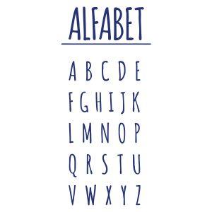 Decoratiesticker | Alfabet | Blauw