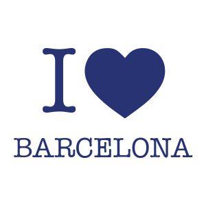 Decoratiesticker | I love Barcelona | Blauw