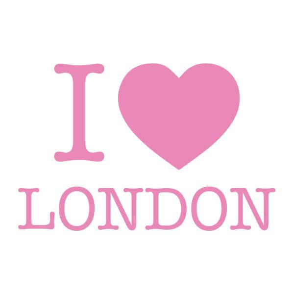 Decoratiesticker | I love London | Licht Roze
