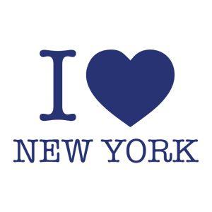 Decoratiesticker | I love New York | Blauw