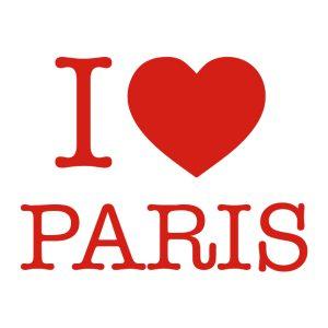 Decoratiesticker | I love Paris | Rood