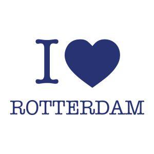 Decoratiesticker | I love Rotterdam | Blauw