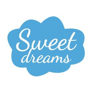 Decoratiesticker | Sweet Dreams | Licht Blauw
