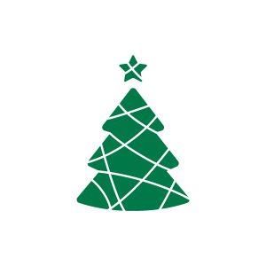 Kerststickers Kerstboom