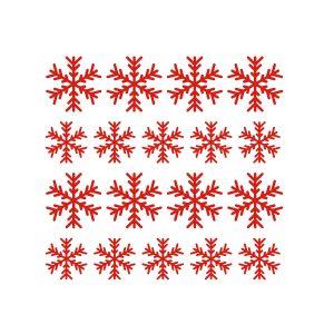 Kerststickers Sneeuwkristal type 2