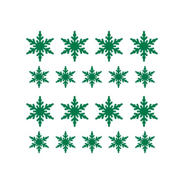 Kerststickers Sneeuwkristallen type 3
