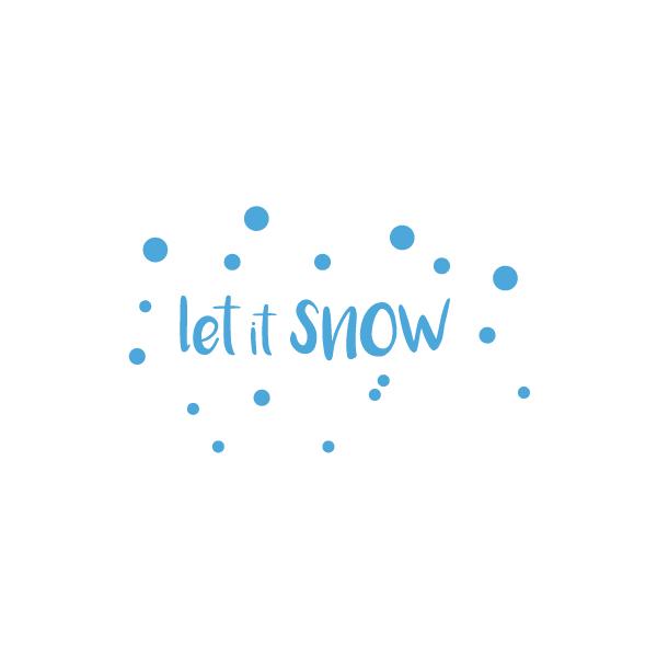 Kerststickers Let it snow