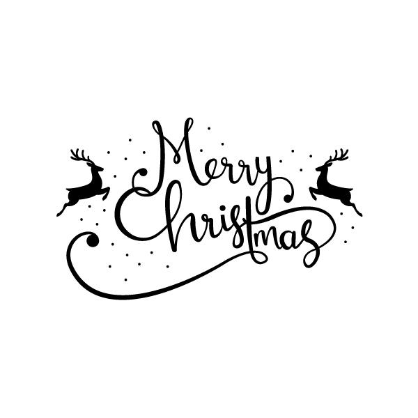 Kerststickers Merry Christmas