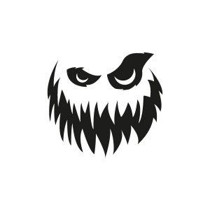Halloweenstickers Spookgezicht